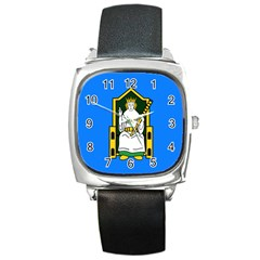 Flag Of Mide Square Metal Watch by abbeyz71