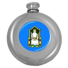 Flag Of Mide Round Hip Flask (5 Oz) by abbeyz71