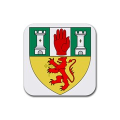 County Antrim Coat Of Arms Rubber Coaster (square)  by abbeyz71