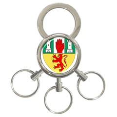County Antrim Coat Of Arms 3 Ring Key Chains