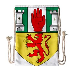 County Antrim Coat Of Arms Drawstring Bag (large) by abbeyz71