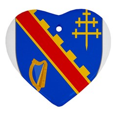 County Armagh Coat Of Arms Heart Ornament (two Sides) by abbeyz71