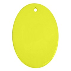 Neon Color   Light Brilliant Yellow Ornament (oval) by tarastyle