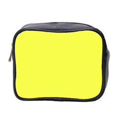 Neon Color   Light Brilliant Yellow Mini Toiletries Bag 2 Side by tarastyle