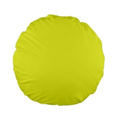 Neon Color   Light Brilliant Yellow Standard 15  Premium Flano Round Cushions by tarastyle