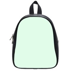 Neon Color   Light Malachite Greenish Gray School Bags (small)  by tarastyle