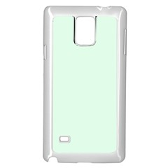 Neon Color   Light Malachite Greenish Gray Samsung Galaxy Note 4 Case (white) by tarastyle
