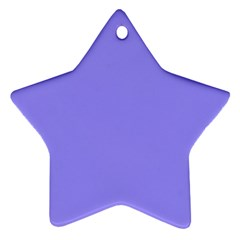 Neon Color   Light Persian Blue Star Ornament (two Sides) by tarastyle