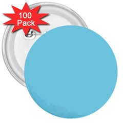 Neon Color   Luminous Vivid Blue 3  Buttons (100 Pack)  by tarastyle