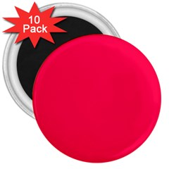 Neon Color   Luminous Vivid Crimson 3  Magnets (10 Pack)  by tarastyle
