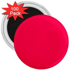 Neon Color   Luminous Vivid Crimson 3  Magnets (100 Pack) by tarastyle