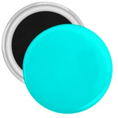 Neon Color   Luminous Vivid Cyan 3  Magnets by tarastyle