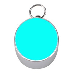 Neon Color   Luminous Vivid Cyan Mini Silver Compasses by tarastyle