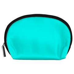 Neon Color   Luminous Vivid Cyan Accessory Pouches (large)  by tarastyle