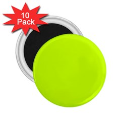 Neon Color   Luminous Vivid Lime Green 2 25  Magnets (10 Pack)  by tarastyle