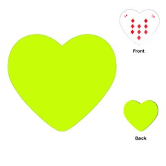 Neon Color   Luminous Vivid Lime Green Playing Cards (heart)  by tarastyle