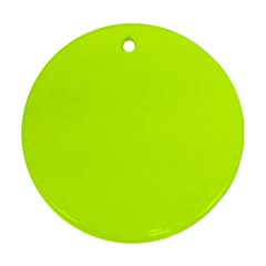 Neon Color   Luminous Vivid Lime Green Round Ornament (two Sides) by tarastyle