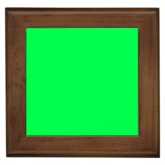 Neon Color   Luminous Vivid Malachite Green Framed Tiles