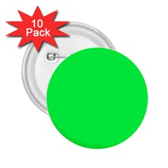 Neon Color   Luminous Vivid Malachite Green 2 25  Buttons (10 Pack)  by tarastyle