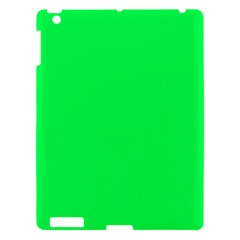 Neon Color   Luminous Vivid Malachite Green Apple Ipad 3/4 Hardshell Case by tarastyle