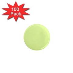 Neon Color   Pale Lime Green 1  Mini Magnets (100 Pack)  by tarastyle