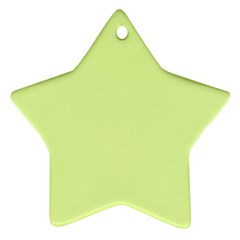 Neon Color - Pale Lime Green Star Ornament (two Sides) by tarastyle