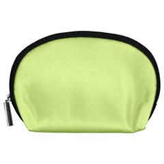 Neon Color   Pale Lime Green Accessory Pouches (large)  by tarastyle