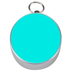 Neon Color   Vivid Cyan Silver Compasses by tarastyle