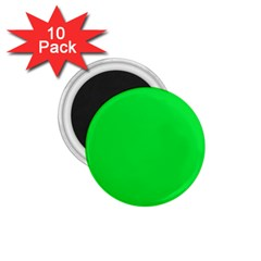 Neon Color   Vivid Malachite Green 1 75  Magnets (10 Pack)  by tarastyle