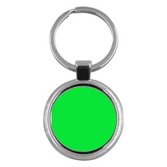 Neon Color   Vivid Malachite Green Key Chains (round)  by tarastyle