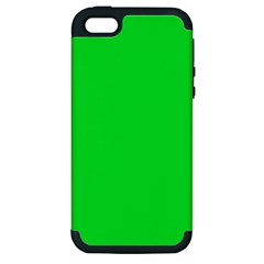 Neon Color   Vivid Malachite Green Apple Iphone 5 Hardshell Case (pc+silicone) by tarastyle