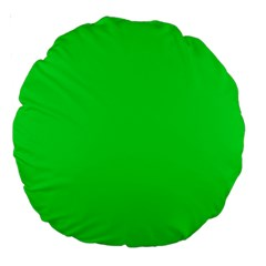 Neon Color   Vivid Malachite Green Large 18  Premium Round Cushions by tarastyle