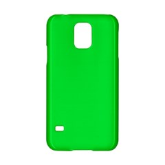 Neon Color   Vivid Malachite Green Samsung Galaxy S5 Hardshell Case  by tarastyle
