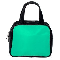 Neon Color   Vivid Turquoise Classic Handbags (one Side) by tarastyle