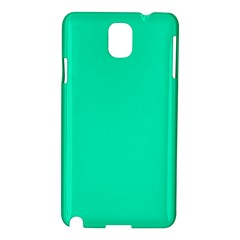 Neon Color   Vivid Turquoise Samsung Galaxy Note 3 N9005 Hardshell Case by tarastyle