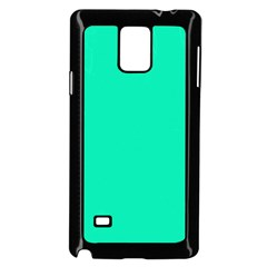 Neon Color   Vivid Turquoise Samsung Galaxy Note 4 Case (black) by tarastyle