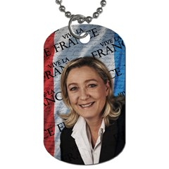 Marine Le Pen Dog Tag (one Side) by Valentinaart