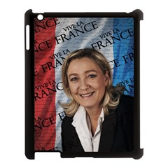 Marine Le Pen Apple Ipad 3/4 Case (black) by Valentinaart