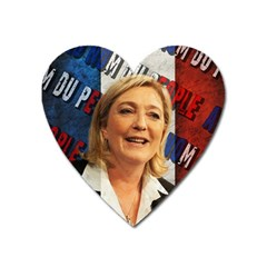 Marine Le Pen Heart Magnet by Valentinaart