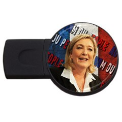 Marine Le Pen Usb Flash Drive Round (2 Gb) by Valentinaart