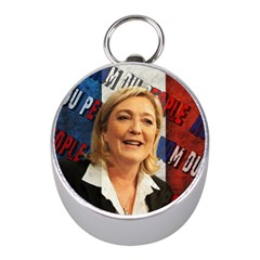 Marine Le Pen Mini Silver Compasses by Valentinaart