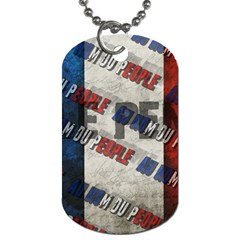 Marine Le Pen Dog Tag (two Sides) by Valentinaart