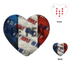 Marine Le Pen Playing Cards (heart)  by Valentinaart