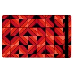 Fake Wood Pattern Apple Ipad 3/4 Flip Case by linceazul