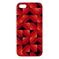 Fake Wood Pattern Iphone 5s/ Se Premium Hardshell Case by linceazul