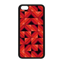 Fake Wood Pattern Apple Iphone 5c Seamless Case (black) by linceazul