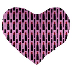 Makeup Large 19  Premium Flano Heart Shape Cushions by Valentinaart