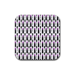 Makeup Rubber Square Coaster (4 Pack)  by Valentinaart