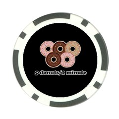 Five Donuts In One Minute  Poker Chip Card Guard (10 Pack)