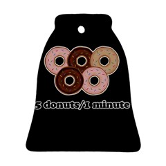 Five Donuts In One Minute  Bell Ornament (two Sides) by Valentinaart